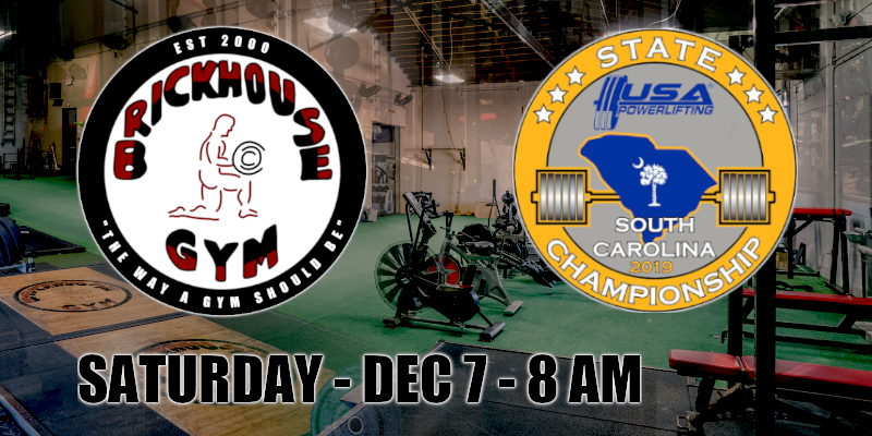 2019 USA Powerlifting SC State Championships 2019 USA Powerlifting SC State Championships
