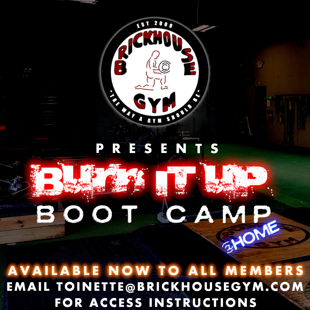 .Burn It Up @Home Email toinette@brickhousegym.com For Access Instructions